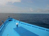 statkiem na Malediwach